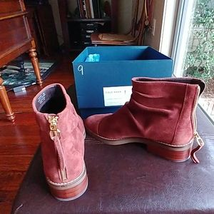 Cole Haan Cherry mahogany suede boots